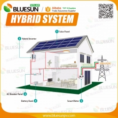10KW hybrid solar system connect to grid and with batteries bank for 380V 400V voltage