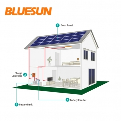 10KW off-grid solar power system 10000w solar system with battery