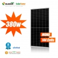 bluesun venta caliente media célula panel solar 380 w perc panel solar 144 células panel solar