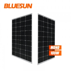 Bluesun 100w Mono Solar Panel 12V 100W Solar Panel 100 Watt Solar Cells Solar Panel