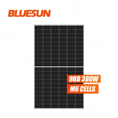 Bluesun 166mm big module 380w perc half cell mono solar panel